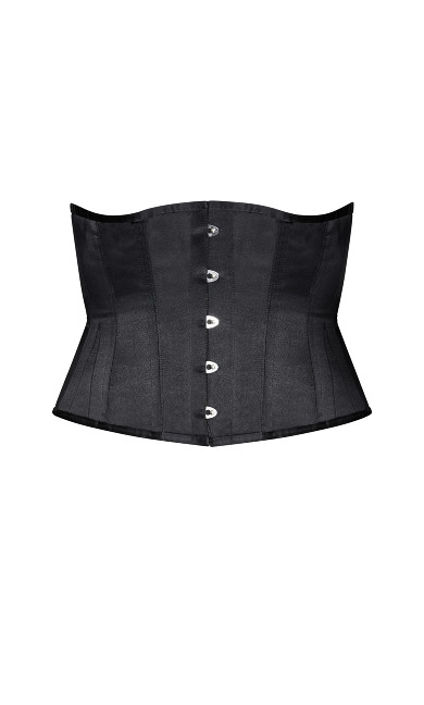 Madame X Steel Boned Underbust Corset - black