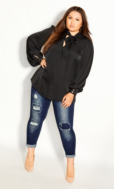 Plus Size In Awe Top - black
