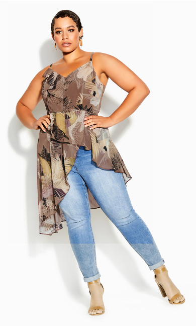 Tropical Heat Top -  Taupe
