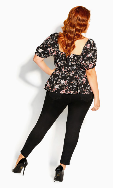 Imperial Blossom Top - black