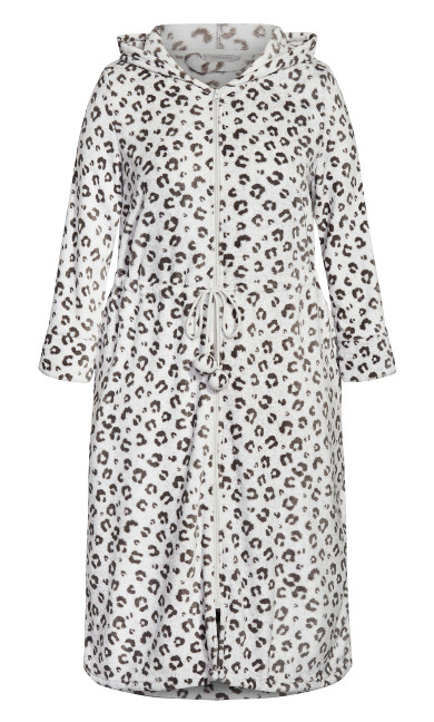 Zip Animal Robe - gray