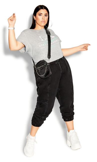 Plus Size Harley Stitch Jean - black