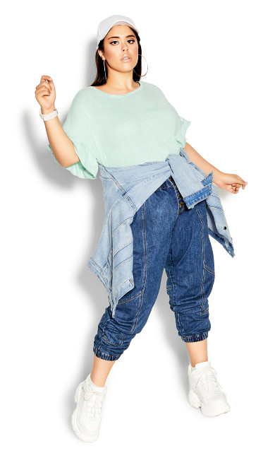 Plus Size Harley Stitch Jean - mid denim