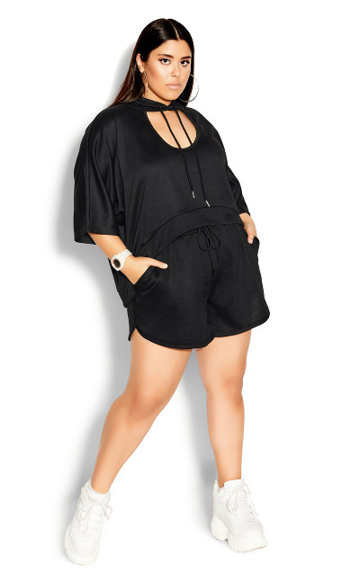 Plus Size So Fresh Short - black