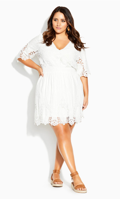 Lust Crochet Dress - ivory