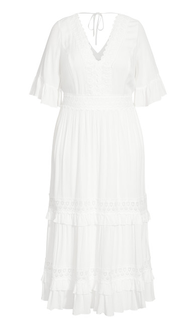 Endless Lace Maxi Dress - ivory