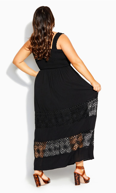 By The Beach Maxi Dress - black