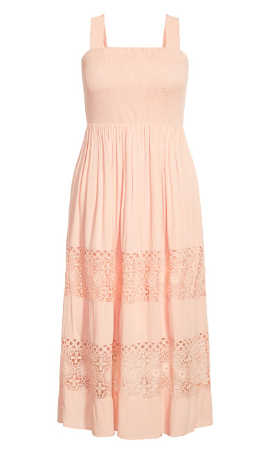 By The Beach Maxi Dress - peach