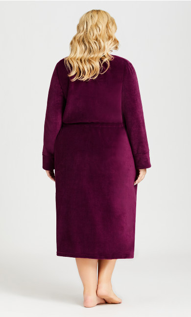 Zip Front Robe - plum