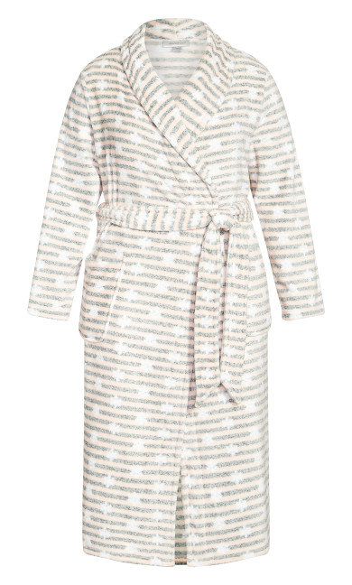 Snowflake Robe - gray