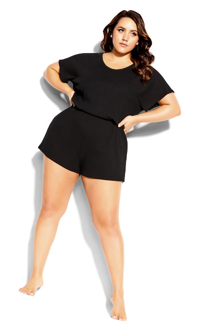 Layla Sleep Romper - black