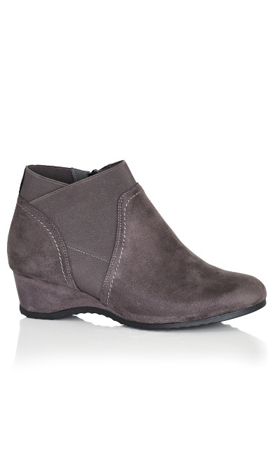 Gored Bootie - gray
