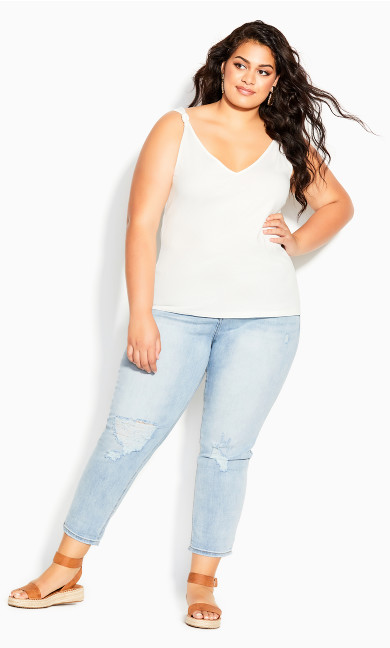 Forget Me Knot Top - ivory