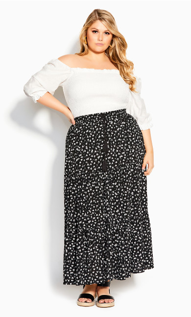 Sweet Ditsy Skirt - black