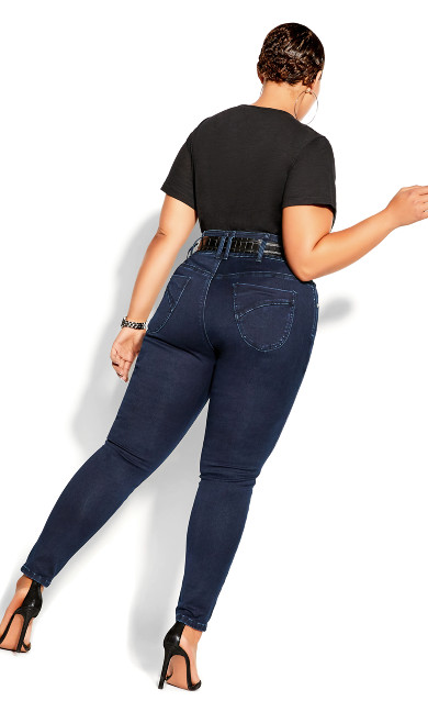 Harley Skinny Petite Denim Jean - dark denim