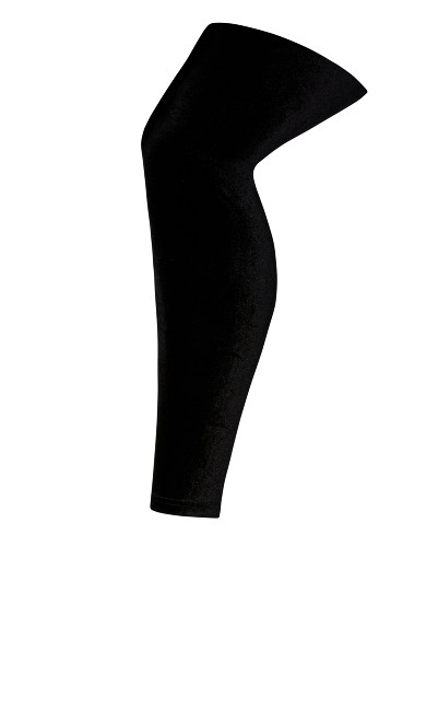 Velvet Leggings - black