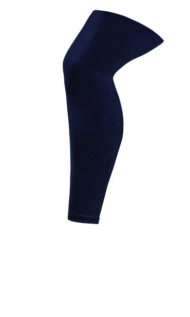 Velvet Leggings - navy