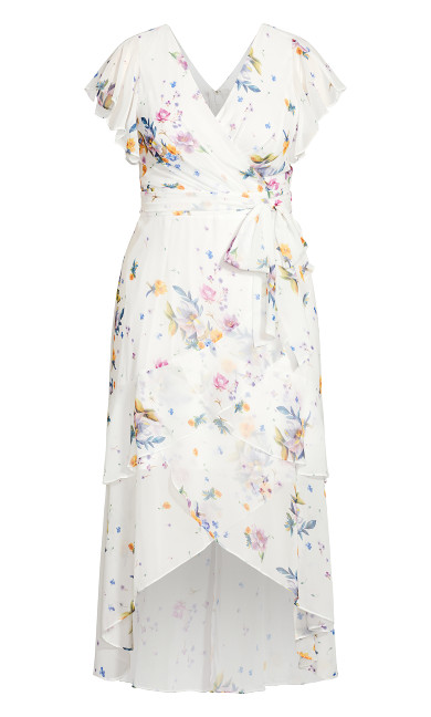 Summer Rose Maxi Dress - white