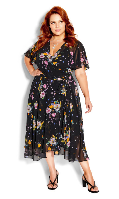 Summer Rose Dress - black
