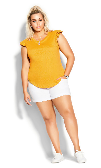 Frill About Tee - golden yellow