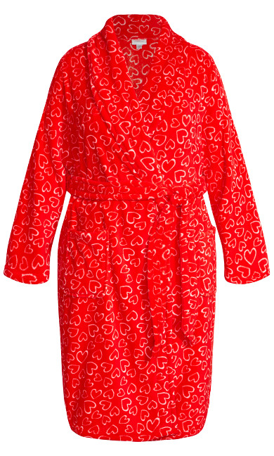 Love Heart Robe - red heart