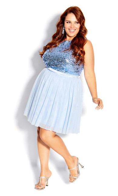 Plus Size Skirt Sweet Tulle - baby blue