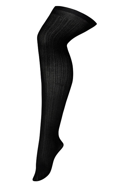 Chevron Tights - black