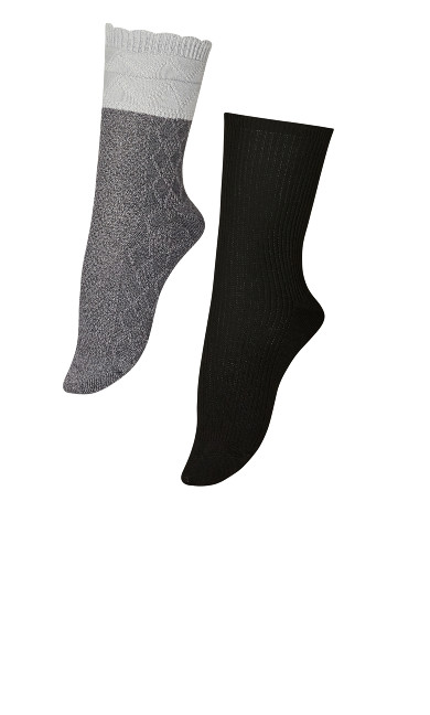 Diamond Socks 2 Pack - grey