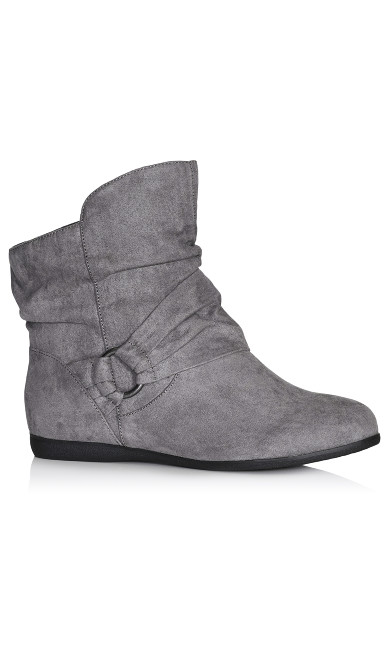 Serena Faux Suede Side Buckle Bootie