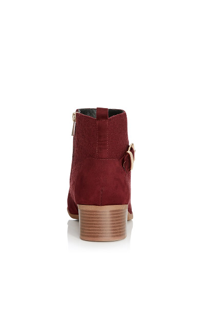 Darla Quilted Faux Suede Ankle Boot - wine
