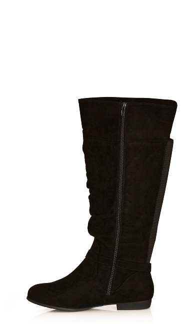 Beacon Faux Suede Tall Boot - black