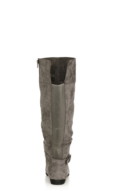 Beacon Faux Suede Tall Boot - gray