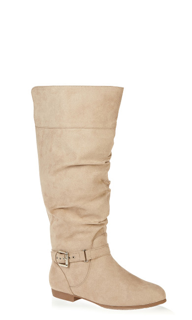 Plus Size Beacon Faux Suede Tall Boot - taupe