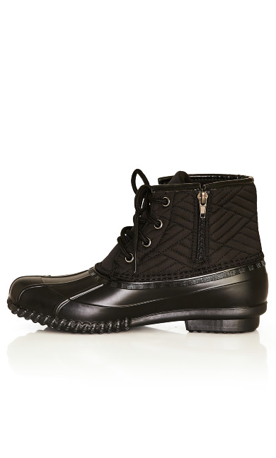 Mona Quilted Weather Boot - black