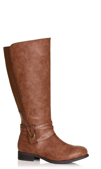 Naomi Riding Boot with Elastic Stretch Back