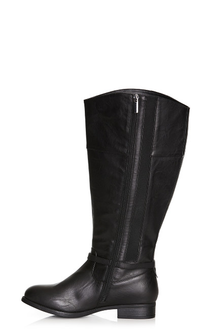 Heather Basic Riding Boot - black