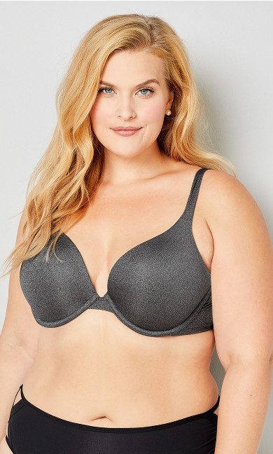Plunge Bra - gray heather