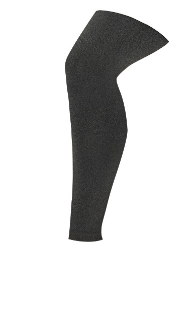 Fleece Lined Footless Tights Grey - average