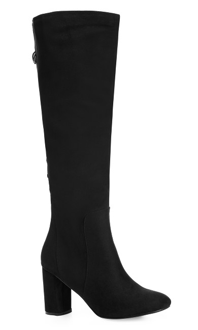 Plus Size Perry Knee High Boot - black