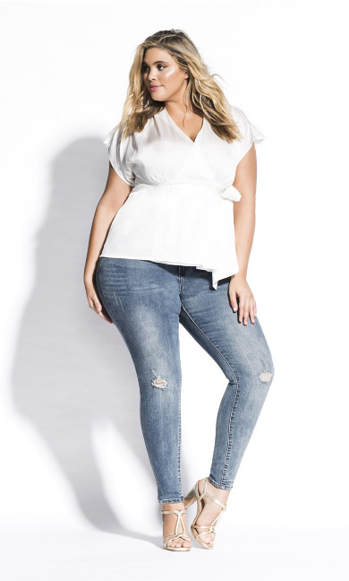 Women's Plus Size Tangled Top - ivory