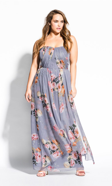 Women's Plus Size Whimsy Florence Maxi Dress - grey
