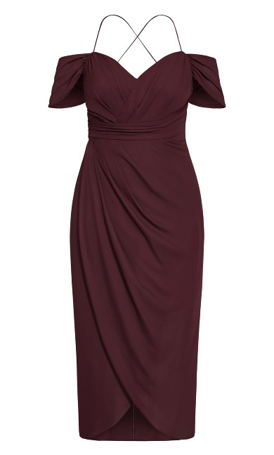 Entwine Maxi Dress - oxblood