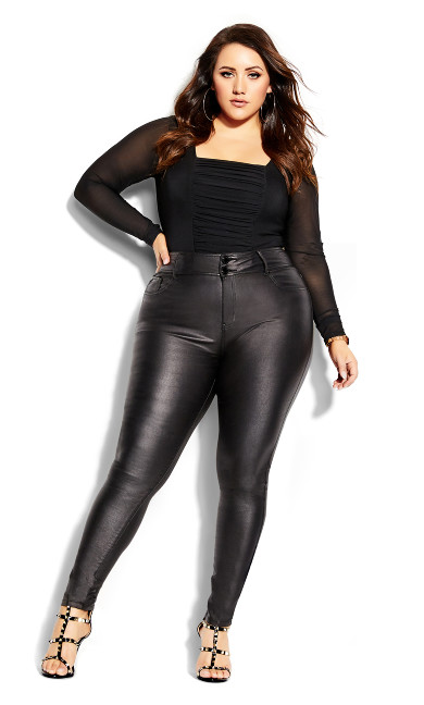 Women's Plus Size Skylar Short Coated Skinny Jean