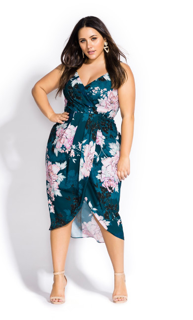 Women's Plus Size Jade Bloom Dress