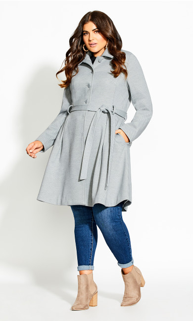 Women's Plus Size Blushing Belle Coat - silver
