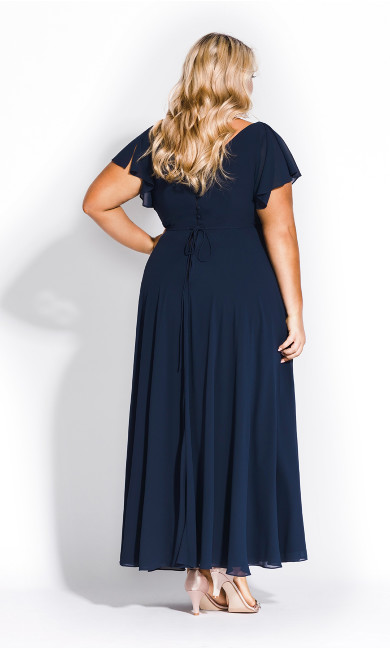 Sweet Wishes Maxi Dress - navy