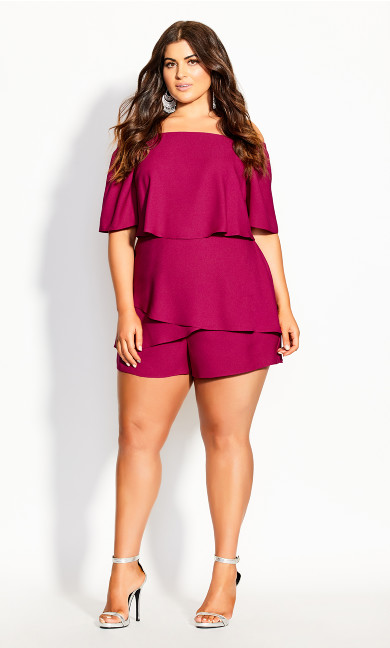 Mysterious Playsuit - magenta