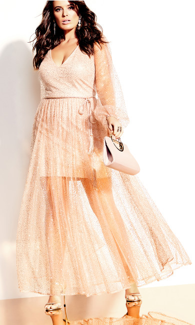Eleganza Maxi Dress - rosegold
