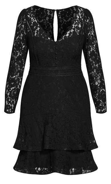 Lacey Love Dress - black