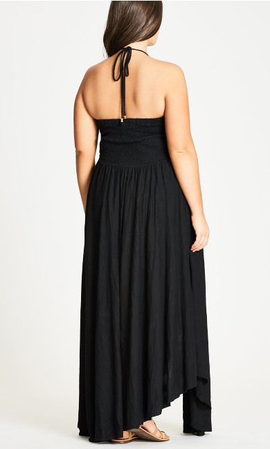 Plait Detail Maxi Dress - black